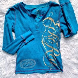 Blue Ecko Red Long Sleeved Thermal Shirt Size M